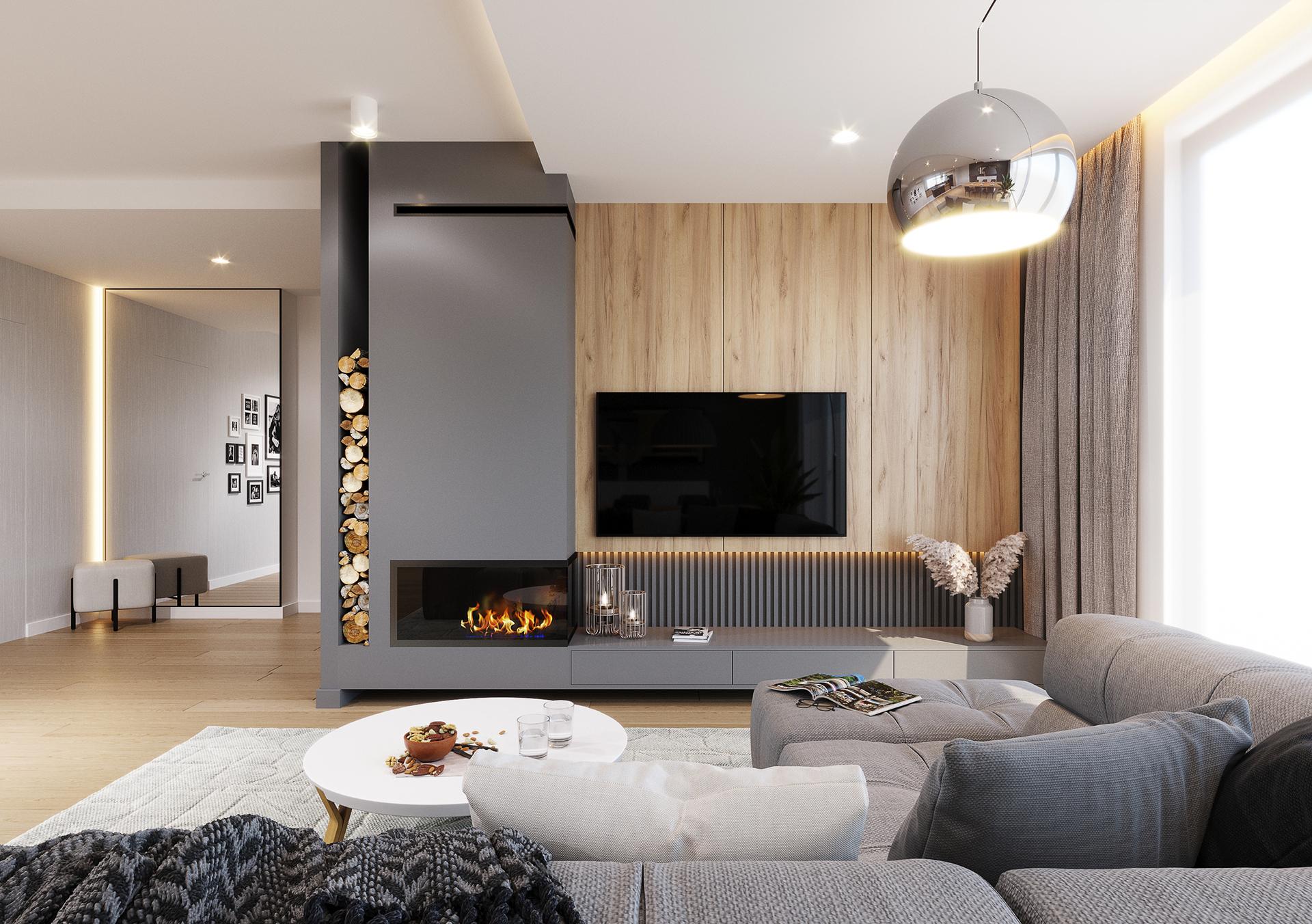 Dom w nowoczesnym klimacie z widokiem na Beskidy